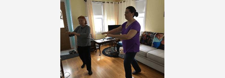 Ksenja and Vivian TCC practice